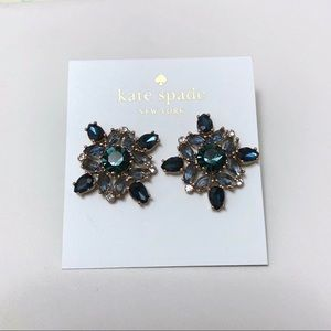kate spade Jewelry - Kate Spade Blue Crystals Earrings Studs